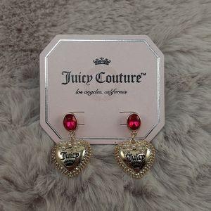 Juicy Courture Heart Earrings